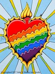 Burning Rainbow Heart