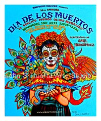 Hollywood forever Dia de los Muertos  16x20 signed 2013 poster