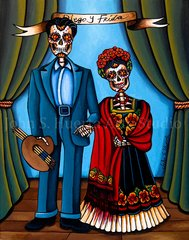 """Diego y Frida"" signed matted print"
