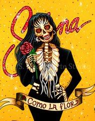 """""""Como la Flor"""" 16x20 signed matted print"""
