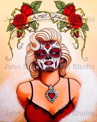 Amor Duele (Love Hurts) 5x7 art greeting card
