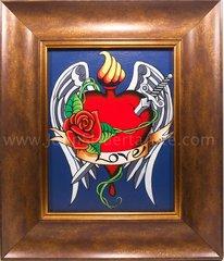 """""""Love""""  Framed Original acrylic on canvas"""
