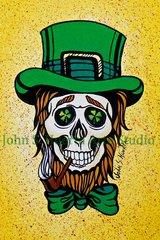 """St Patrick"" art greeting card"