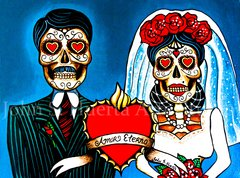 """Amor Eterno II"" wedding couple signed matted print"