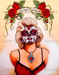 """""""Amor Duele"""" 16x20 signed matted print"""