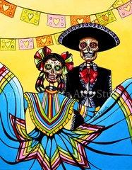Dia de la Fiesta 5x7 art greeting cards