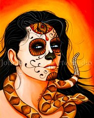 """""""Snake Charmer"""" 16x20 signed matted print"""