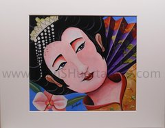 """Geisha"" Orginal acrylic on watercolor paper"
