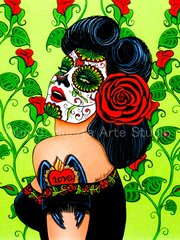 Valentina 5x7 art greeting card