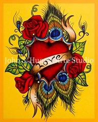 """Love"" 8x10 acrylic on canvas board"