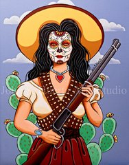 """""""Adelita"""" 16x20 signed matted print"""