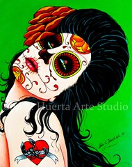 """Alaclana"" 5x7 art greeting card"