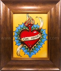 """Con Amor"" Framed Original acyrlic on canvas"