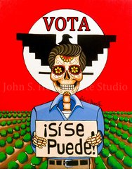 """Si se Puede"" 8x10 signed matted print"