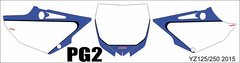 Yamaha YZ125/250 2015+ YZ250X 2016 Numberplate Decals PG2