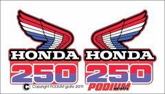 Honda CR250R 1985 Rad Shroud Reproduction Decals
