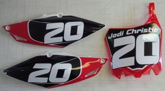 Honda 2013-2016 CRF450R and 2014-2016 CRF250R PG2 Numberplate Decals