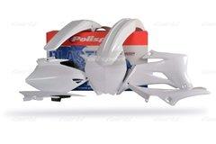 Polisport Yamaha 2006-2009 YZF250/450 Complete Plastic Kit WHITE CLEARANCE