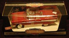 """1957 Chevy Bel Air ERTL American Muscle 1/18"""" Scale Die Cast Metal Collector Car"""