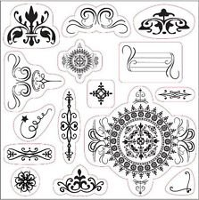 Fiskars Li'l Davis Designs 15 Clear Crillon Adornment Stamps