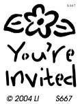 Lasting Impressions S667 - You're Invited