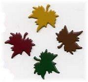 Maple Leaf Painted Metal Paper Fasteners