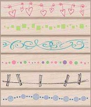 Hero Arts-Embellishment Borders Stamps Set
