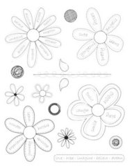 Kaisercraft-Clear Stamps Flowers