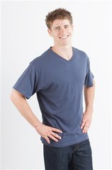Men's Spun Bamboo V-neck