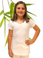 girl's bamboo V-neck