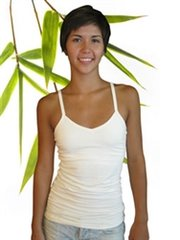 Women's bamboo cali top with shelf bra