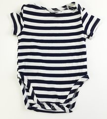 baby onesie short sleeve sailor stripes
