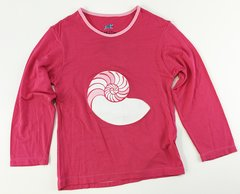 girls long sleeve sea shell t