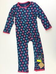 toddler coverall pajamas w/ bottom flap blue star fruit 4T