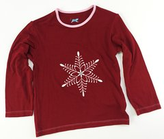 girls long sleeve snowflake t