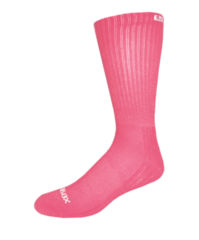 adult bamboo athletic pink crew socks
