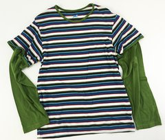 boys double sleeve stripes t (size 10)