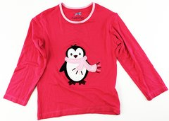 girls long sleeve penguin t