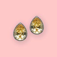 Lara Heems Audrey Yellow clip on Earrings