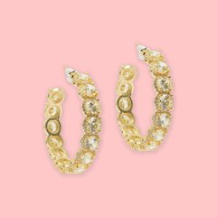 Lara Heems Shimmer Yellow Hoops