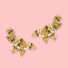 Lara Heems Half Moon Yellow Ear Cuff