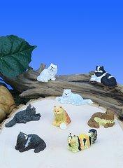 Mini Fluffy Cats (12 PC SET)