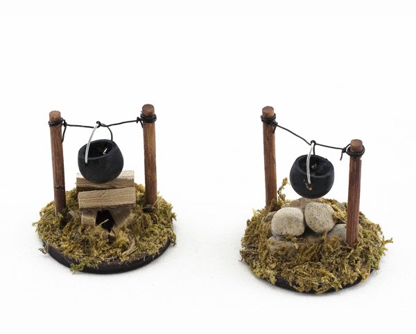 Mini Camp Fire with Black Pot (12 PCS SET)
