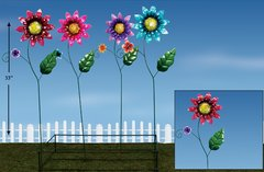 Lg Flowers Metal Plant Sticks with Display (12 PCS SET)