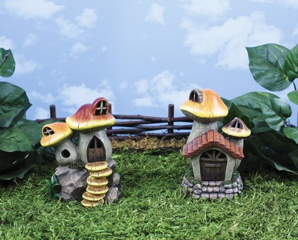 Sm Mushroom House with LED Light (6 PCS SET)