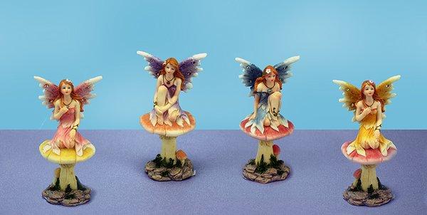 Fairy on Mushroom (12 PCS SET)