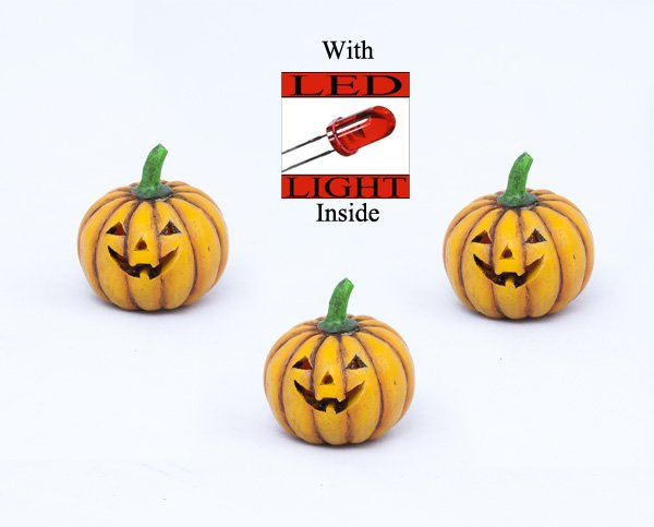 Light Up Pumpkin with LED Light (12 PCS SET)