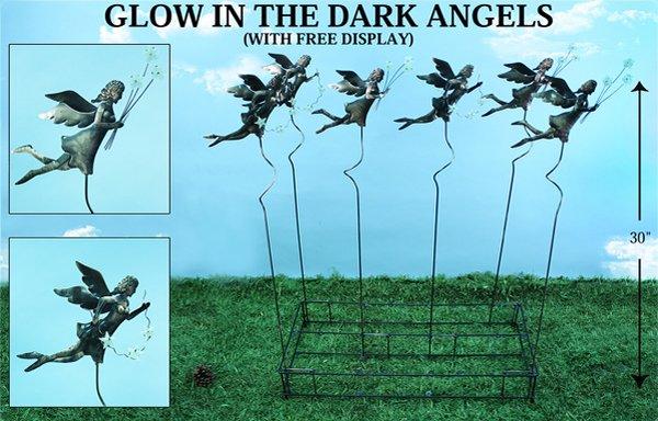 Glow In The Dark Angel Plant Sticks (12 PCS SET)