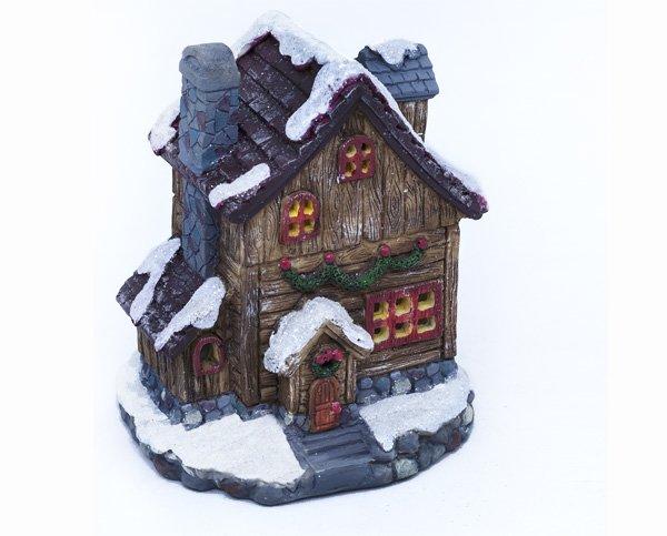 Christmas House with LED Light (12 PCS SET)