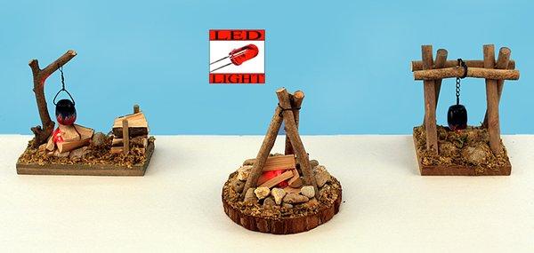 Assorted Camp Fire with LED Light (12 PCS SET)